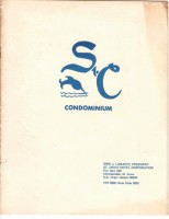St C Condominiums brochure cover circa 1960s